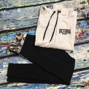 2 pc Victoria Sport Hoodie and Leggings Size XS/S